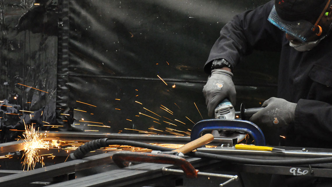 Metal fabrication at Cardiff Theatrical Services