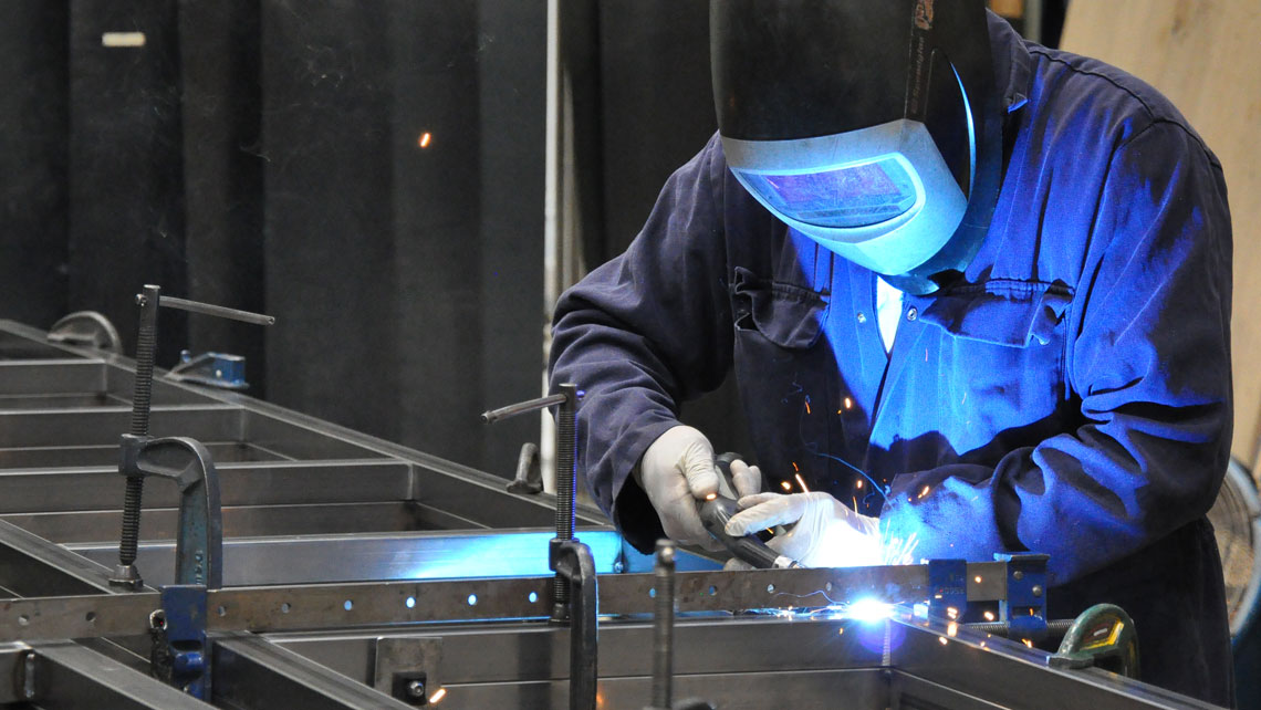 Welding at Cardiff Theatrical Services